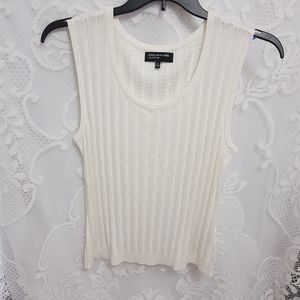 Ribbed Dressy Tank Top. Shimmery Fabric